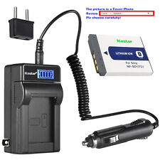 Kastar Battery LCD AC Charger for Sony OEM NP-BD1 NP-FD1 & Genuine BC-CSD BC-CS3