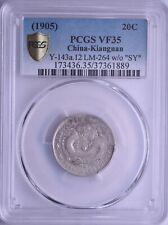 1905 China Kiangnan Silver 20 Cent Dragon Coin PCGS L&M-264 Y-143a.12 VF35