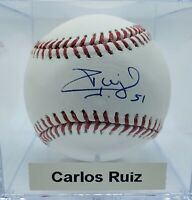 Phils '08 WSC Carlos Ruiz Campion Autograph On Official MLB Ball. Authenticated.