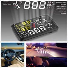 "5.5"" X3 LCD Car Vehicles HUD Head Up Display Speedometer Engine Speed Alarm Kit"