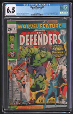 Marvel Feature #1 The Defenders 12/71 CGC 6.5 1st App The Defenders 042721DBCG
