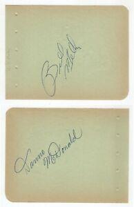 """Bill Melby & Jim """"Danno"""" McDonald Cut Signatures! Autograph! NWA Pro Wrestling!"""