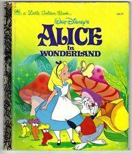 Children's Little Golden Book ~ Walt Disney's ALICE IN WONDERLAND