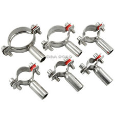 """18mm to 102mm 3//4/"""" to 4/"""" Sanitary Bracket Pipe Fitting Ajusting Clamp SS 316"""