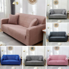 1/2/3/4 Seater Stretch Solid Color Sofa Cover Slipcover Elastic Case Protector