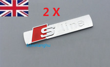 2 PCS S Line Emblem Matt Badge Sticker For AUDI A3 A4 A6 S4 RS4 S3 S4 TT GRADE B