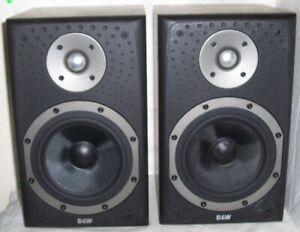 B&W Bowers & Wilkins DM-303 Black 2-WAY BOOKSHELF LOUDSPEAKERS Stereo**ENGLAND**