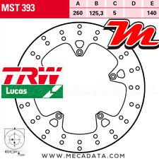 Disque de frein Avant TRW Lucas MST 393 Gilera 300 Nexus, ie (M35) 2012