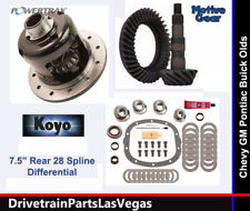 "GM Chevy 7.5"" 10 Bolt Posi Package OE Level Gear Set Master Kit 3.73 Powertrax"