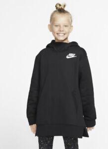 Nike Air Crop Overhead BV3057-010 Black Hoodie Youth Girls Size Medium ZP-3073