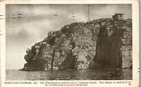 Portland Harbor ME Old Whitehead Cushings Island Vintage Postcard BB1