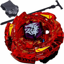 Red 4D Beyblade Meted L-Drago Rush BB98 Metal Fusion Fight Beyblade w/ Launcher