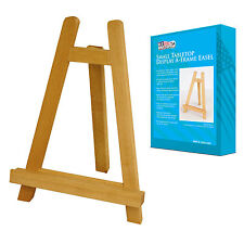 """Small 11"""" Tall Wood Tabletop Display A-Frame Art Painting Easel Stand 1-Easel"""