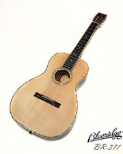 Blueridge BR-371 Solid Sitka Spruce & Rosewood Parlor Guitar Natural High Gloss