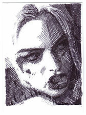Aceo sketch card margot robbie comme harley quinn 2 de suicide squad film