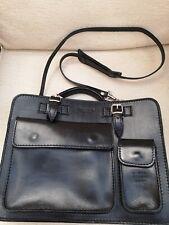 Superb Italian Black Leather Vera Pelle Laptop/Ipad Shoulder/Carry Bag