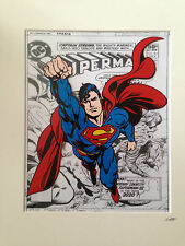 Superman - Design 1 - Flying - DC Comics - Hand Drawn & Hand Painted Cel