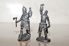 A pair of toy lead soldiers,Babarian and Viking,rare,collectable,detailed,gift