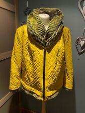 ATA Deri Yellow Faux Leather Jacket Size 6XL