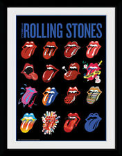 The Rolling Stones * Tongues - Mounted & Framed Print