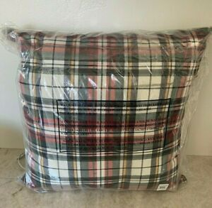 Pottery Barn Denver PLAID indoor outdoor pillow Christmas holiday