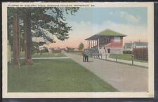 Postcard BRUNSWICK Maine/ME  Bowdoin College Athletic Field Grandstand 1910's