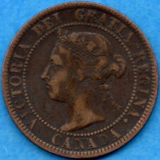Canada 1893 1 Cent One Large Cent Coin - F/VF