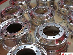 TeamAPT Hochglanzverdichten von LKW- Aluminiumfelgen inkl. Acrylschutz