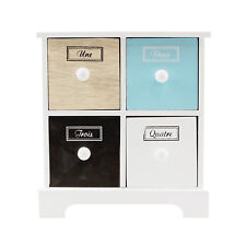 Mini Multi-Coloured Chest of 4 Drawers Contemporary Jewellery Storage Cabinet