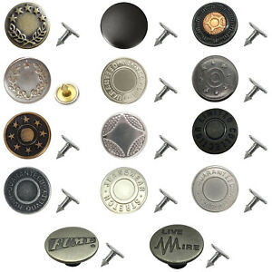Snap Fastener Hammer On Metal Buttons for Jeans Perfect Fit Adjust Button