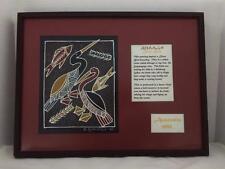 Authentic Original Aboriginal Hand Painted Art Picture Diving Birds Australia