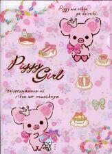 San-X Piggy Girl Pig A4 Plastic File Folder #2