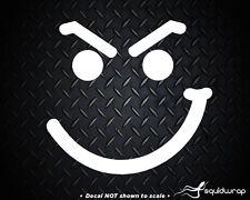 """Smirk Face JDM Bon Jovi Car Decal / Laptop Sticker - WHITE 5"""""""