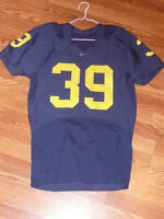 University of MICHIGAN Wolverines  *Game Used* Nike Football Jersey #39 rare wow