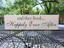 They Lived Happily Ever After Rustic Country Barn Wedding Decoration Beach Sign