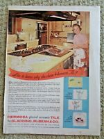 1950's Hermosa Decorative Ceramic Tile mid-century modern kitchen print Ad House