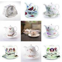 Roy Kirkham English Fine Bone China Animal Teapot Tea for One & Cup Gift Set