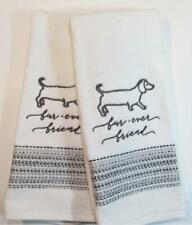 BEST FRIENDS DOG EMBROIDER SET 2 BATHROOM HAND TOWELS