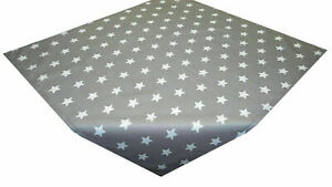 Tablecloth Table Topper Christmas Stars Grey White Cotton 75 X 75 CM