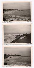 Lot 3 PHOTOS ANCIENNES N&B Bourg en Batz Sur Mer Plage 1965 Loire Atlantique