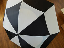 BagBoy Telescopic Wind Vent Golf Umbrella - Black/White