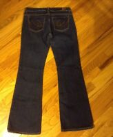 EXPRESS X2 Stretch Slim Fit W10 Low Rise Flare Leg Jeans women's 6 Long EUC!