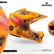 ARMOR AKC-49 Neon Orange Cross-Helm Kinder-Helm Kids Pocket-Bike MX XS S M L XL