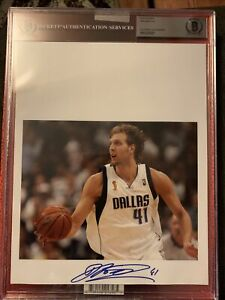 2020 Leaf Basketball Auto Photograph Dirk Nowitzki auto BGS certified Slab 🔥🔥