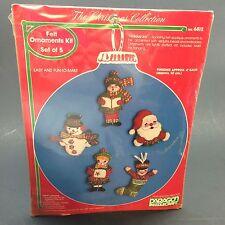 Paragon 6812 Christmas Collection Felt Jeweled Ornament Holiday Joy Kit of 5