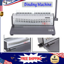 Wire Binding Machine Spiral Coil Book Puncher 21 Holes A4 Paper Punch Binder Us