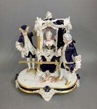 Sänften-Skulptur aus Porzellan von Royal Dux Bohemia