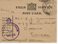 P.O.W. CARD TO CANADA  1943  FDC8638