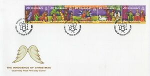 GUERNSEY THE INNOCENCE OF CHRISTMAS 2004 FIRST DAY COVER FDC - NO ADDRESS