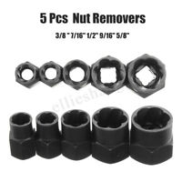 5Pcs Damaged Bolt Nut Remover 10-16mm  Screwdriver Stud Extractor Socket Set